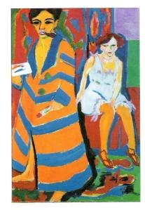 Kirchner autorretrato con modelo