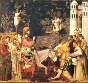 Entrada de Cristo en Jerusalen de Giotto