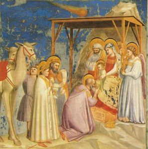 Giotto adoracion de los reyes magos