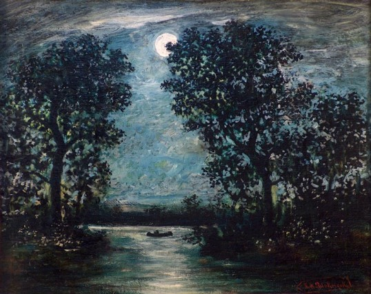 Ralph-Albert-Blakelock-Canoe-in-Moonlight